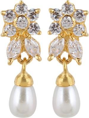 Veracious Jewellery Cubic Zircon Brass Drop Earring