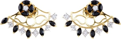 99HomeMart Blooming Flower Cubic Zirconia Alloy Stud Earring