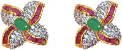 Sheetal Jewellery JCHT40_main Cubic Zirconia Brass, Alloy Stud Earring