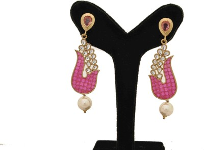Arohi Jewells & Gems AJG3 Copper Earring Set