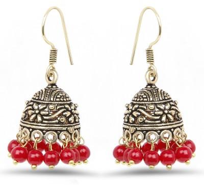 Johareez Beautiful Coral Alloy Jhumki Earring