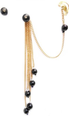 Gurjari Blackmoti Brass Cuff Earring