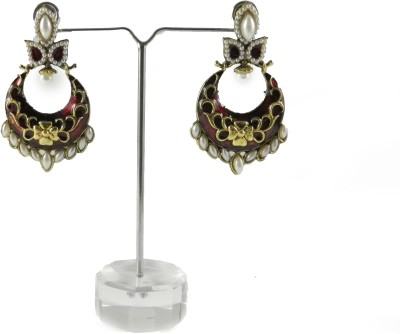 Tradeyard Impex Gorgeous Cubic Zirconia Alloy Chandbali Earring