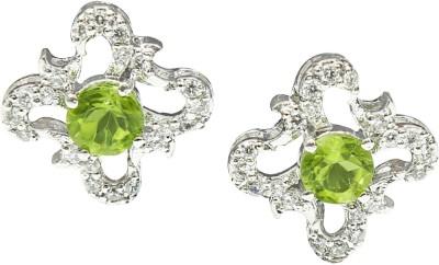 Angel Jewels Spring Sparkle Peridot Silver Stud Earring