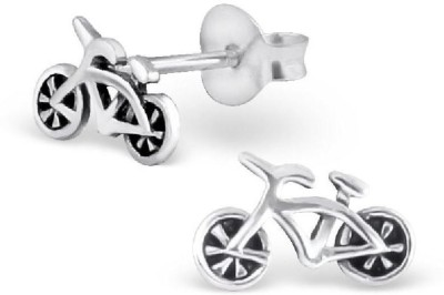 Maayin Bike Sterling Silver Stud Earring