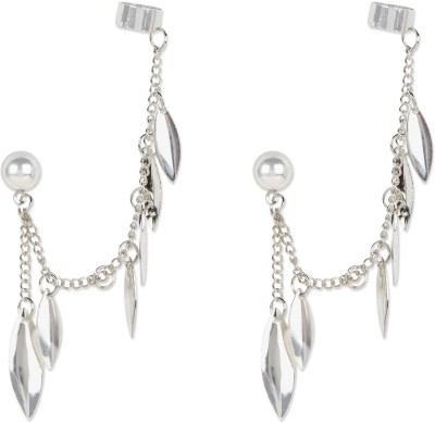 Fayon Chic Stylish Silver Unique Mini Leave Earcuff For Both Ear Alloy Clip-on Earring