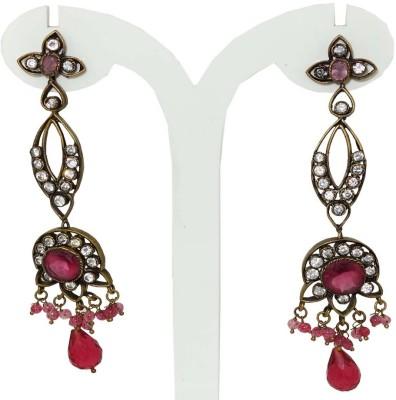 Anjan Glorious Designer Golden Alloy Drop Earring