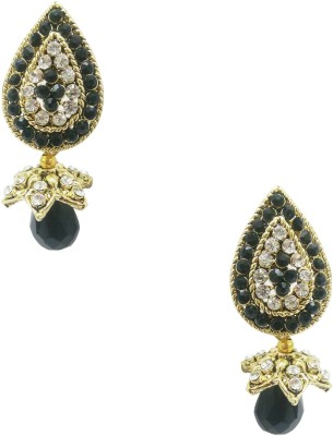 Taruni Taruni Black Drop Earrings. Alloy Drop Earring