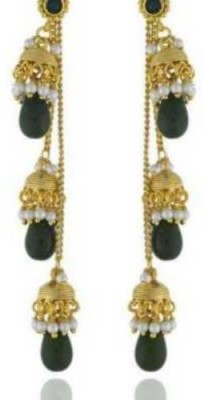 Happyshoppi Attractive Pearl Brass, Copper Drop Earring
