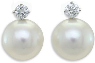 Tathastu Signity Pearl Silver Stud Earring