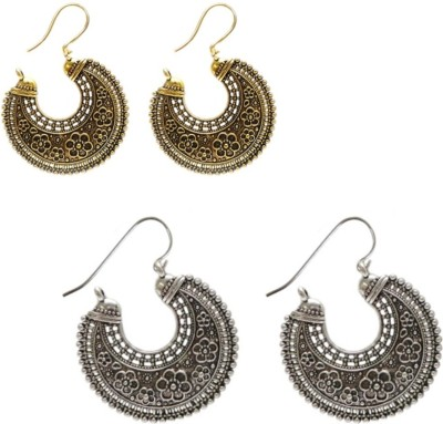 CTW Studed Stone Bali Combo Pack Alloy Hoop Earring