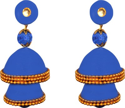 Scion Back to Blue Quilling Paper Jhumki Earring