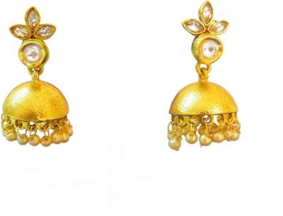 Ratnaraj India Simple Style Traditional Pearl Copper Jhumki Earring