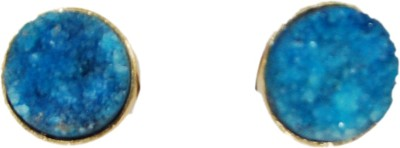 Studio B40 Semiprecious stones-druzy Studs encased in gold to bring the best in you and make you look modern Brass Stud Earring