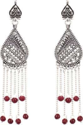 Saadgi Trendy Silver Oxidized Jhumki Alloy Dangle Earring
