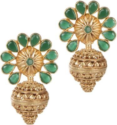 Mehtaphor Tulika_2 Crystal Brass Stud Earring