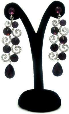 London Jewels Glittering Purple Alloy Drop Earring