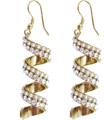 NM Products White Alloy Dangle Earring