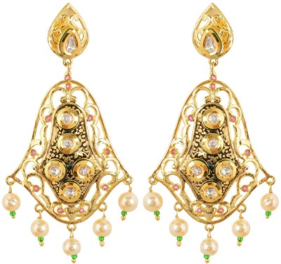 tsb RETAILS Antique Pearls Cubic Zirconia Alloy Drop Earring