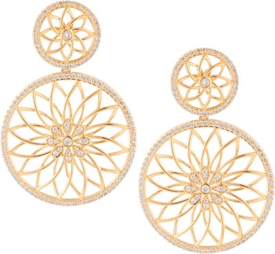 Beautiart Floral Cubic Zirconia Alloy Drop Earring