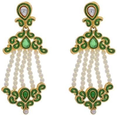Pearls Cart Alloy Chandelier Earring