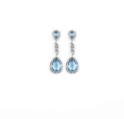 Jewelfin Shinee Blue Alloy Drop Earring