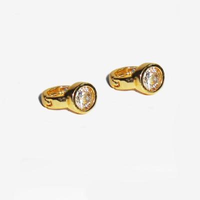 Shubh 4u BEAUTIFUL_AD Brass Huggie Earring