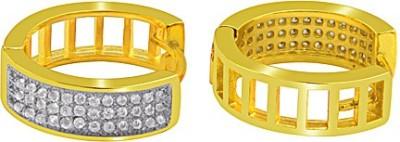 The Fine World Perfectly Styled Petite Loops Zircon Metal Huggie Earring