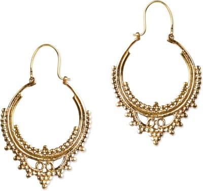 ZeroKaata Of the Queen Brass Hoop Earring