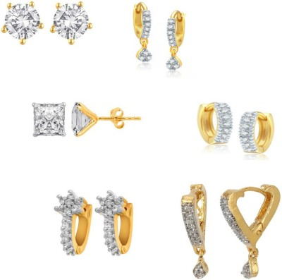 Jewels Galaxy Precious Collection AD JGR553 Alloy Earring Set