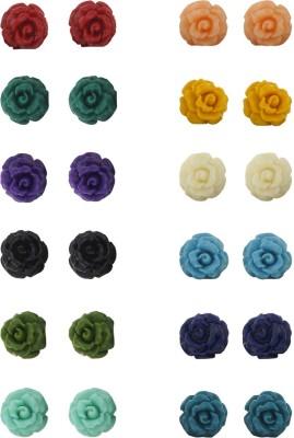 Classique Designer Jewellery Beautiful Pearl Earrings Coral Alloy Earring Set