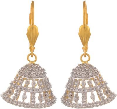 Bohocraft Diva Zircon Brass Jhumki Earring