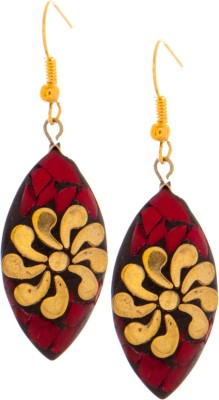 SKGB Red Small Alloy Dangle Earring