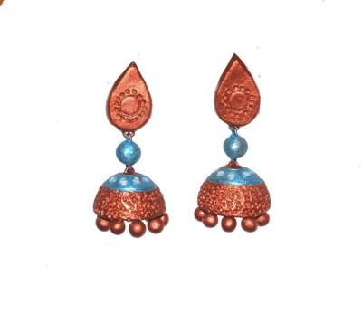 Aanya Creations Terracotta Handmade Jewellery Ceramic Jhumki Earring