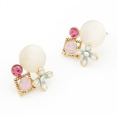 Cilver Fashion Multicolour Trendy Alloy Stud Earring