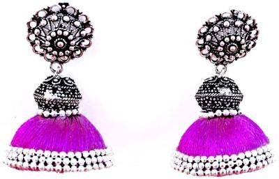 Craftworks SILK THREAD Beads Silk Dori Jhumki Earring