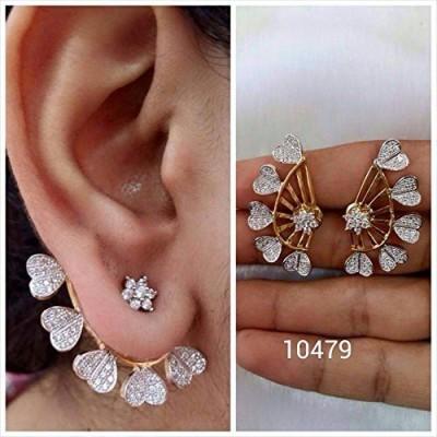 JDX American Diamond Earcuff Acrylic Cuff Earring