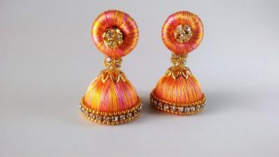 Ovis Creations SILK THREAD JUMKKA Silk Dori Jhumki Earring