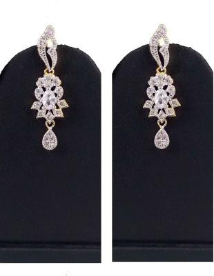 Hotpiper Elegant AD Zircon, Ruby Brass Drop Earring