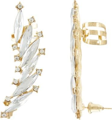 Shining Jewel Spiky Sparkle Crystal Alloy Cuff Earring