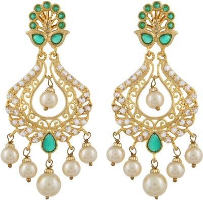 Veracious Jewellery Hyderabadi Zircon Brass Chandelier Earring