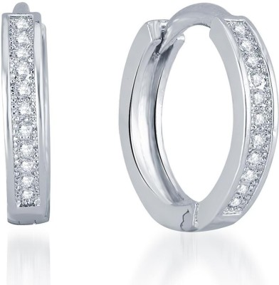 Sukkhi Classic Micro Pave Alloy Huggie Earring