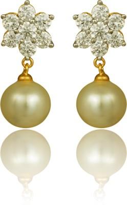 RC Designer Brass, Copper Drop Earring