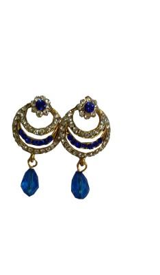 modifier blue alloy Crystal Alloy Drop Earring