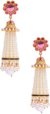 Rubena Gorgeous Gold Plated Pearl Alloy Jhumki Earring