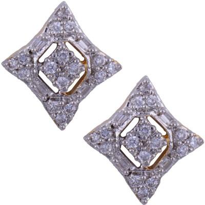 Mahaveer Pearls Graceful Brass Stud Earring