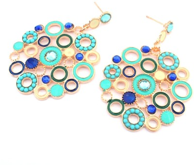 Nexessories Exquisite Round Metal Drop Earring
