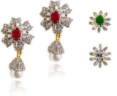 Bling N Beads Partywear Interchangeable Stones Alloy Drop Earring