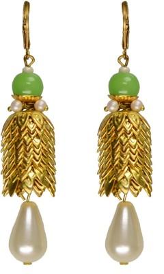 Rasaam Layers drop earring Beads Alloy Tassel Earring