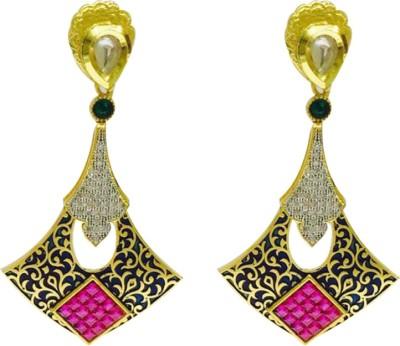 RK Style Stylish Sparkle Brass Drop Earring
